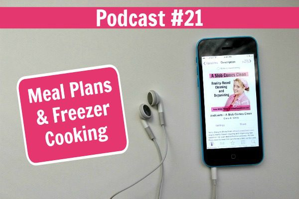 Podcast 21 Meal Plans & Freezer Cooking at ASlobComesClean.com