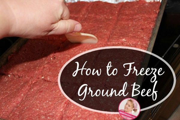 how to freeze ground beef at ASlobComesClean.com fb