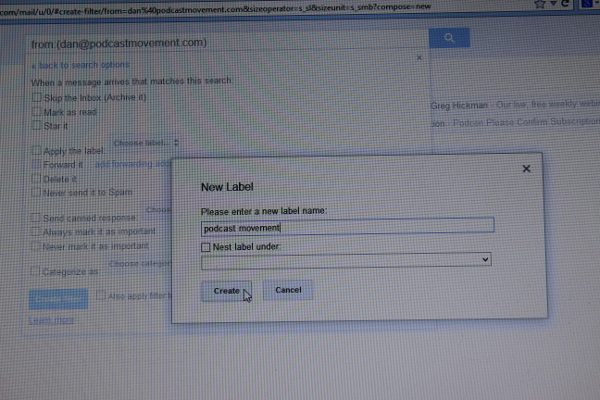 Creating Labels in Gmail
