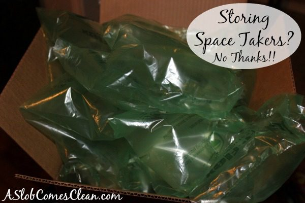 Storing Space Takers? No Thanks!