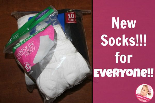 New Socks!! For EVERYONE!! (My Over-Excitement and a Really Funny Joke) at ASlobComesClean.com