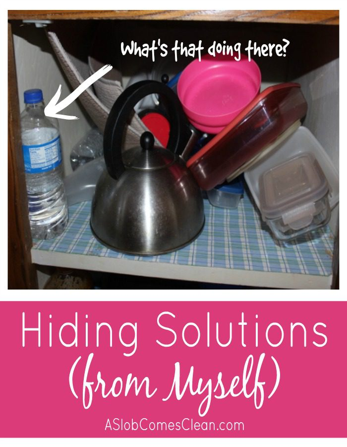 Hiding Solutions from Myself - ASlobComesClean.com