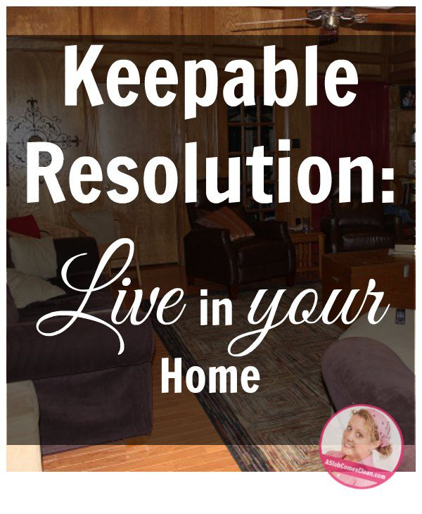 A Keepable Resolution at ASlobComesClean.com