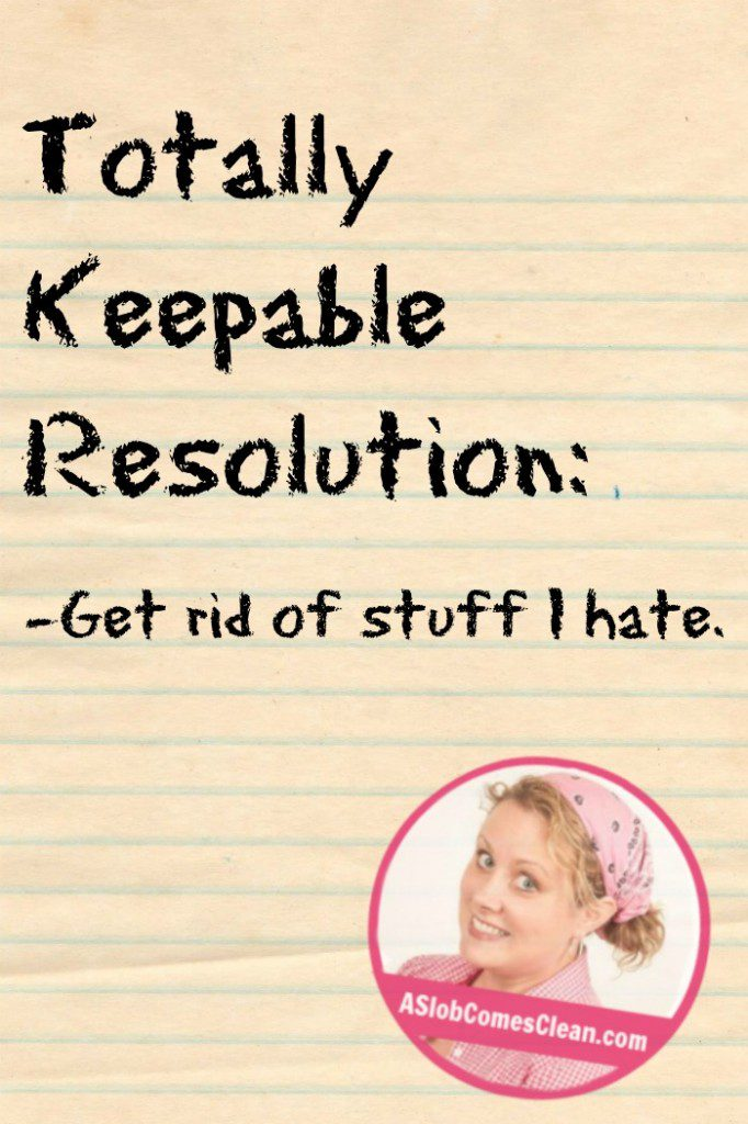 Need a resolution you can keep Get ideas at ASlobComesClean.com