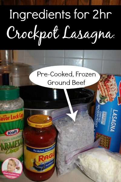 How to Make Lasagna in the Crockpot at ASlobComesClean.com
