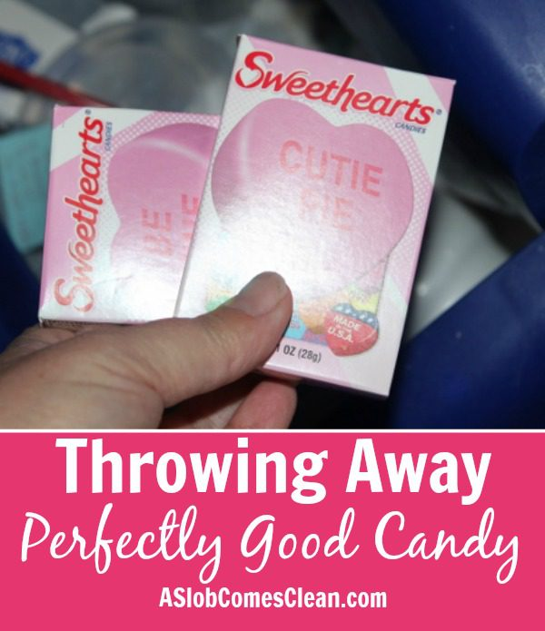 Throwing Away Perfectly Good Candy at ASlobComesClean.com
