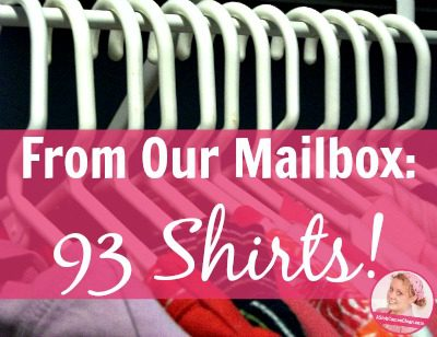 fb From Our Mailbox 93 Shirts! at ASlobComesClean.com
