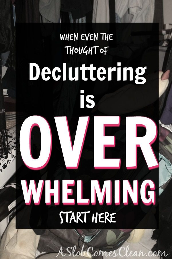 If even thinking about decluttering is overwhelming, this is the place to get started decluttering your home.