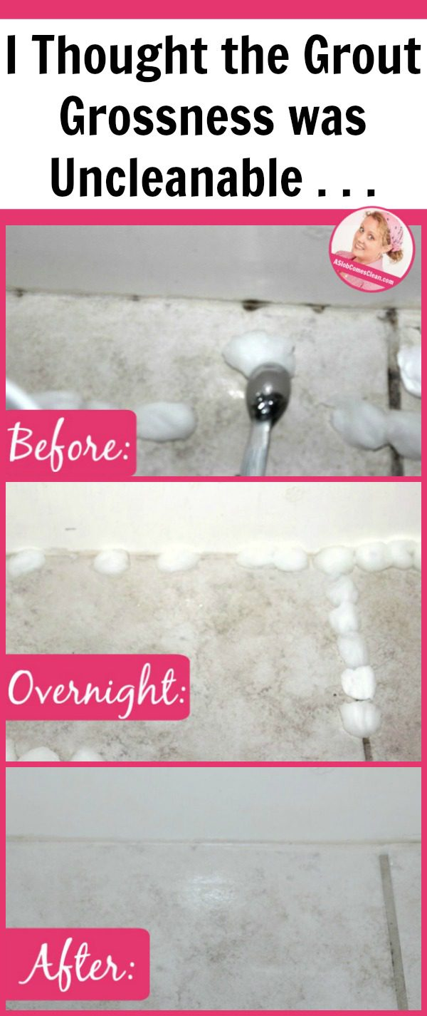 I Cleaned the Grout Grossness I Thought Was Uncleanable! | A