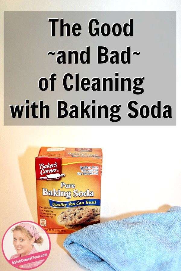 The Good and Bad of Cleaning with Baking Soda where did that white film come from at ASlobComesClean.com