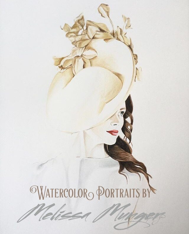 MelissaMunger.com creates beautiful watercolor portraits from your photo - great non-clutter Christmas gifts (a podcast sponsor)