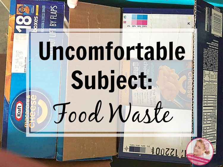 expired food wasted uncomfortable subject at ASlobComesClean.com
