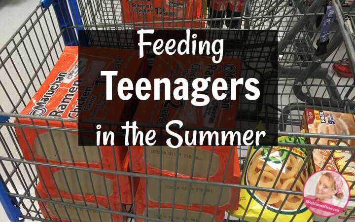 Feeding Teenagers in the Summer at ASlobComesClean.com
