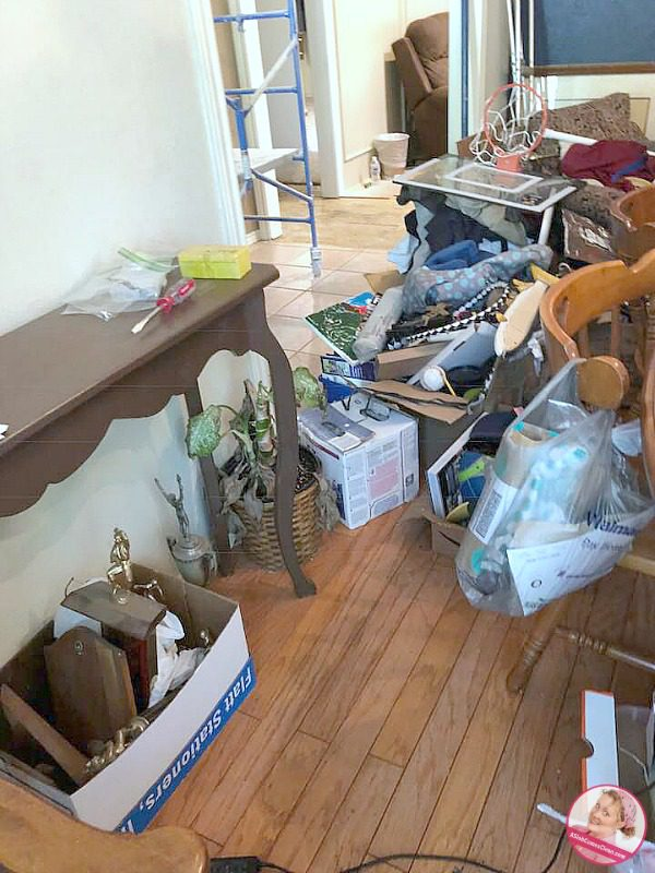Decluttering In the Midst of Remodeling stuff