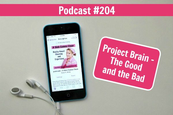 Podcast 204 Project Brain - The Good and the Bad at ASlobComesClean.com fb