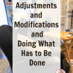 making-adjustments-and-modifications-routine-declutter-progress-living room chair at ASlobComesClean.com