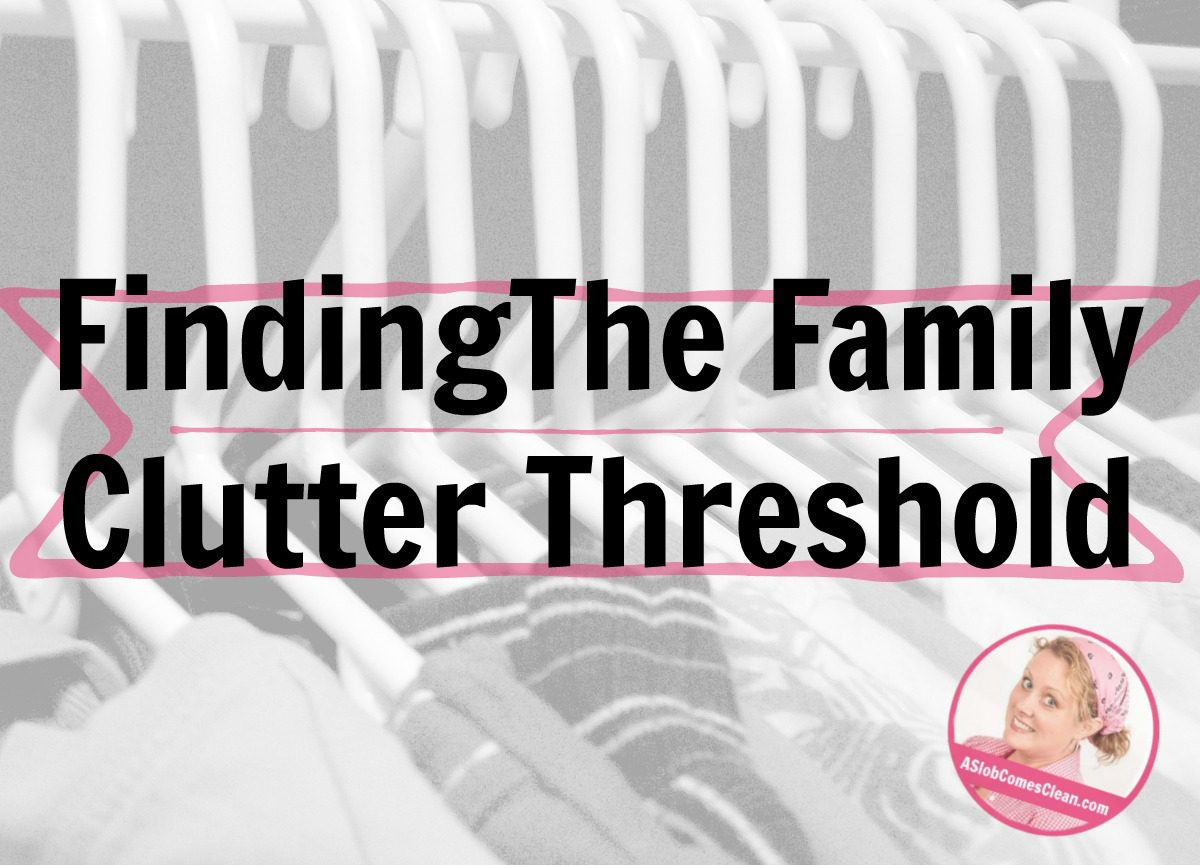 Finding the Family Clutter Threshold laundry kids guest post at ASlobcomesClean.com