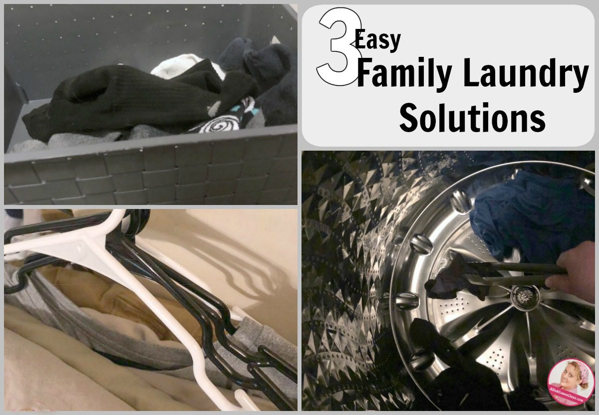 Three Easy Family Laundry Solutions at ASlobComesClean.com