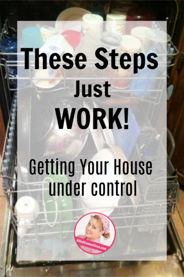 Simple Steps that Work to Get Your House Under Control at ASlobComesClean.com
