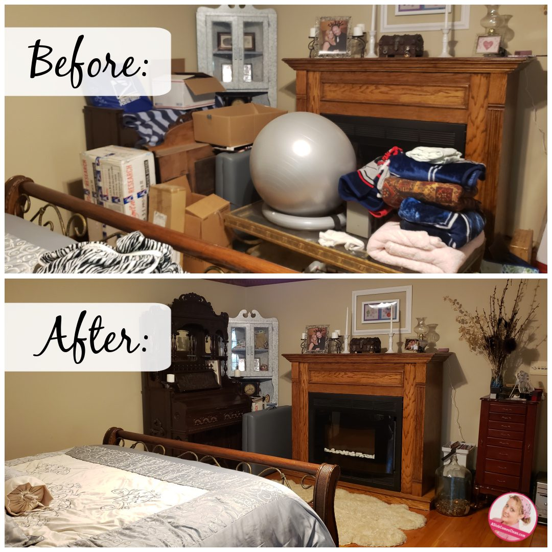 declutter before and after less better at aslobcomesclean.com