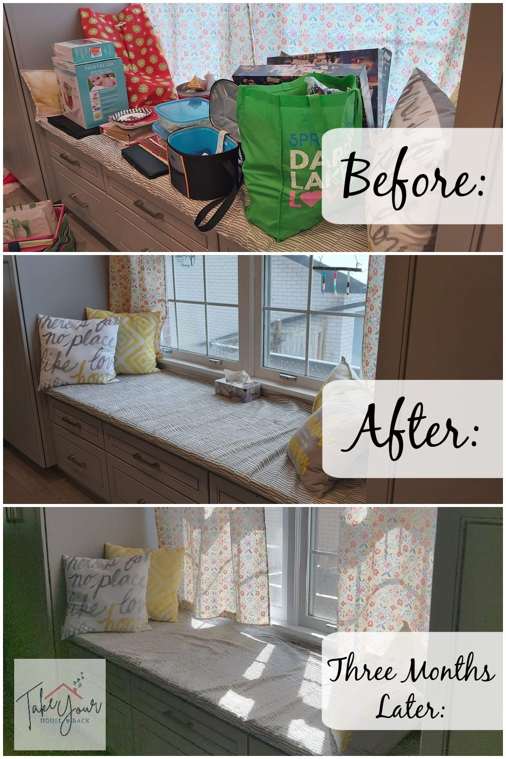take your house back window seat before after 3 months later at aslobcomesclean.com