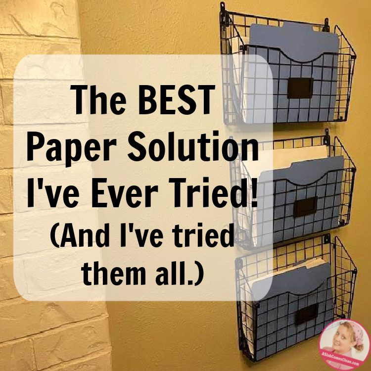 best paper solution keep clutter out manage your home at aslobcomesclean.com